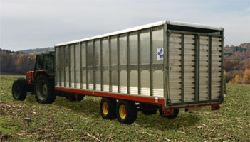 10 Tonne Bale Trailer with removable stack box